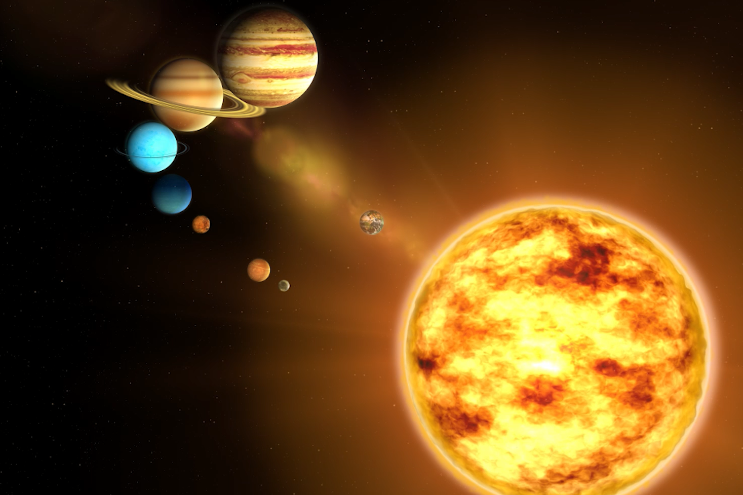 дизайне картинка с солнцем и планетами того, начале мая