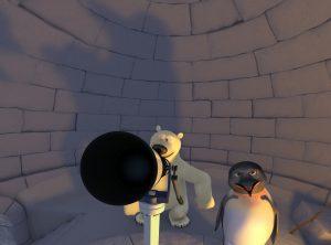polaris. planetaarium. animafilm. kosmoseallveelaev ja polaaröö saladus